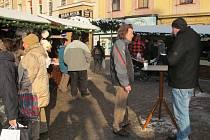 Na šumperském Točáku je nyní živo, konají se vánoční trhy.
