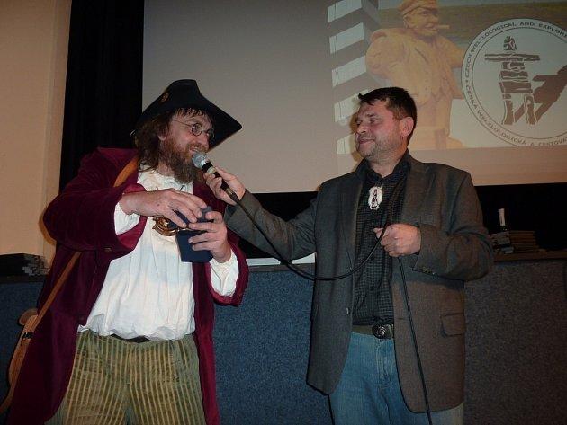 Z předpremiéry filmu Na konec světa s Janem Welzlem v kině Retro v Zábřehu.