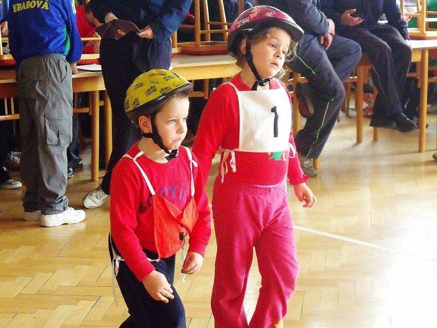 Zástupci nejmladší generace na závodech v Hrabišíně