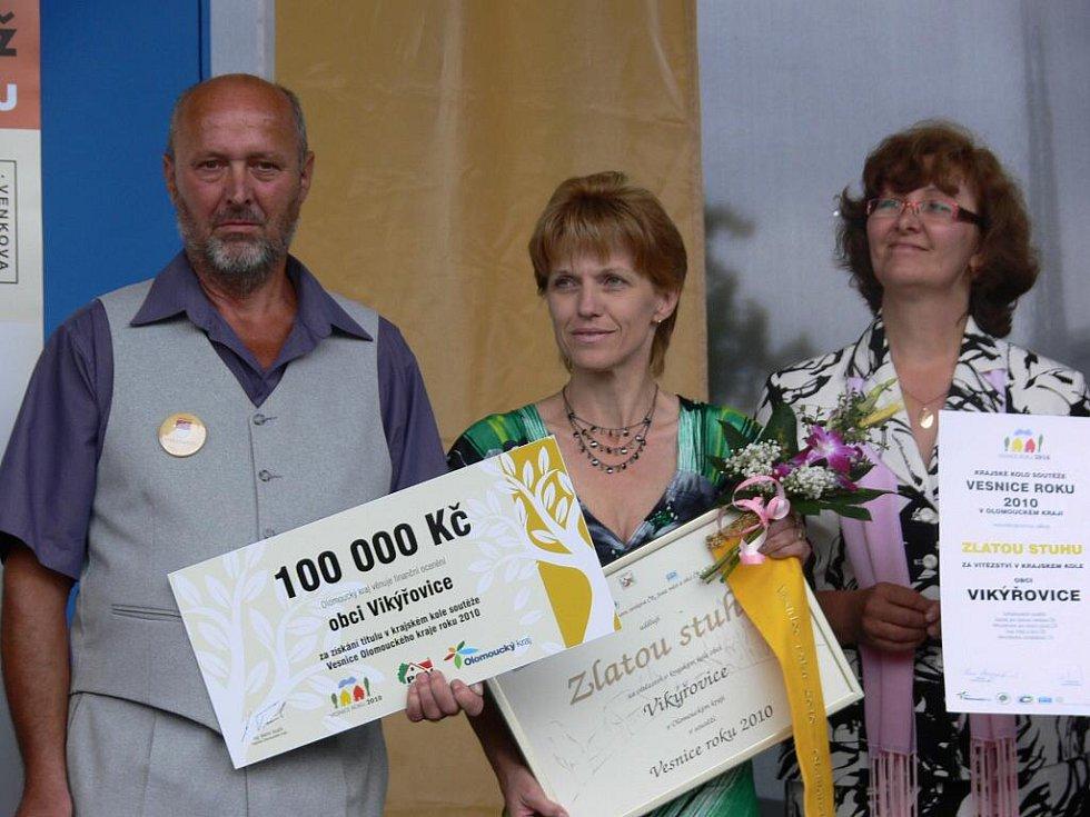 Ve Vikýřovicích se v pátek 30. července konalo předávání cen v krajském kole Vesnice roku 2010