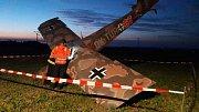 Poblíž Uhelné na Javornicku spadlo v sobotu 24. června malé letadlo. Jednalo se o repliku historického stroje.