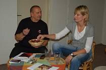Ivana Večeřová na setkání s veřejností ve Vile Doris