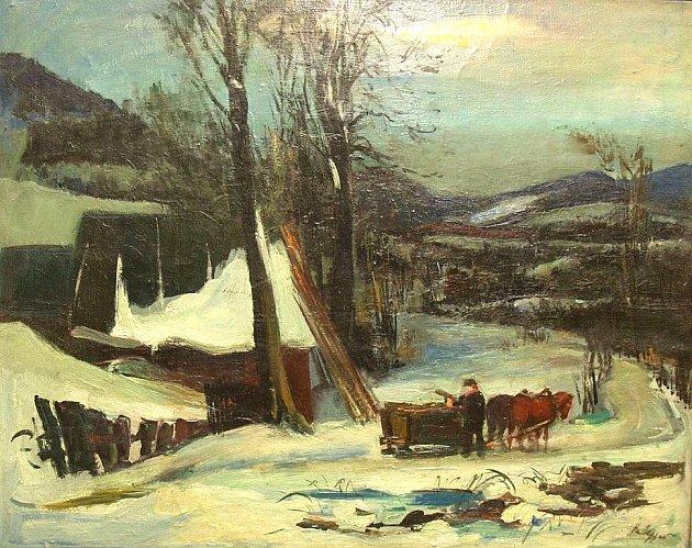Slovník Kdo je kdo ve výtvarné tvorbě Šumperska nabízí i portrét Kurta Halleggera a reprodukci jeho obrazu ze 30. let Zima v Sudetech
