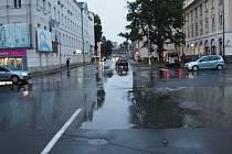 Křižovatka u šumperského soudu, kde se v pondělí 12. října stala nehoda.