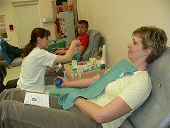 Dárci krve na transfuzní stanici v Šumperku