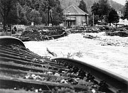 Jindřichov -železniční trať v roce 1997.