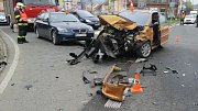 Něhoda na křižovatce ulice Šumperské a 28. října v Jeseníku