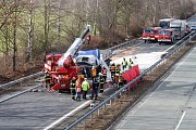 Tragická nehoda kamionu na 237. kilometru dálnice D35 nedaleko Loštic