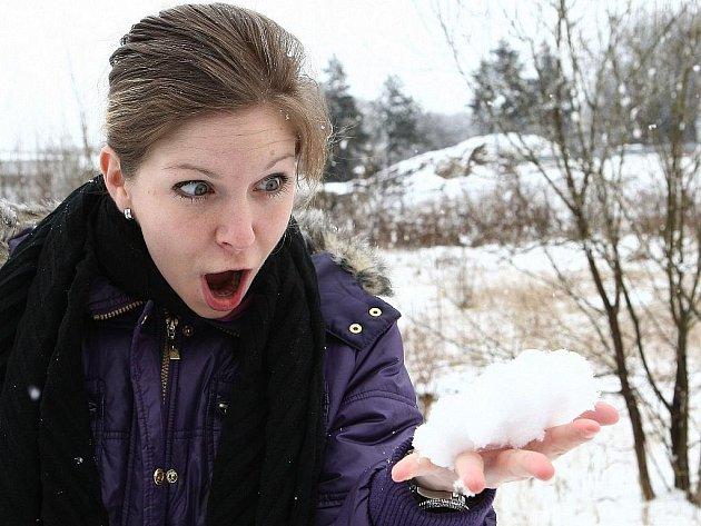 Napadl sníh, ilustrační foto