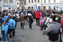 Závod čtyřspřeží s lidskou posádkou, který je jedním z vrcholů festivalu recesistů, dobrodruhů a cestovatelů Welzlování.
