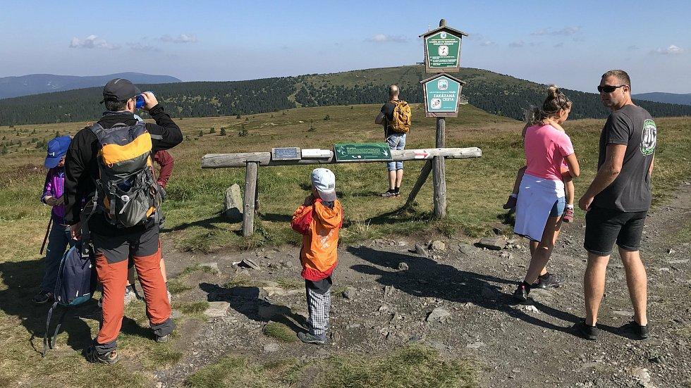 Petrovy kameny v národní přírodní rezervaci Praděd. 12.srpna 2020