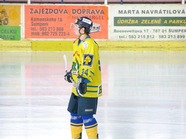 Jeden z šumperských juniorů Matěj Pekr.