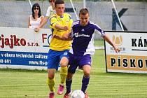 Mohelnický Jan Macák během pohárového utkání se Zlínem.