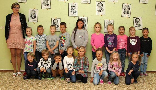 Třída 1.B ZŠ Jeseník střídní učitelkou Zdeňkou Mroskovou
