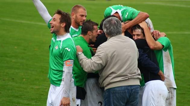 Sulko versus Hlučín (zelené dresy).