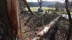 Následky nedělní vichřice na Šumpersku a Jesenicku