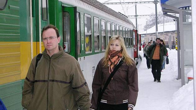Snímek ze šumperského nádraží