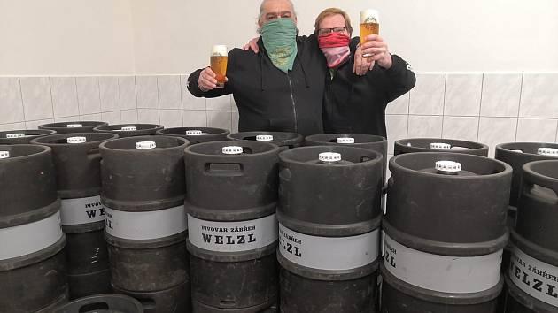 Zábřežský pivovar Welzl v době karantény.