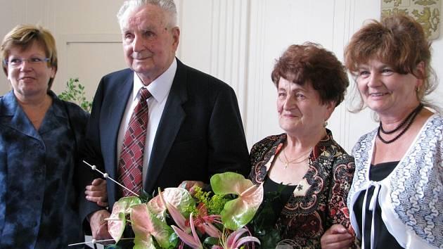 Diamantová svatba manželů Švédových ze Šumperku.