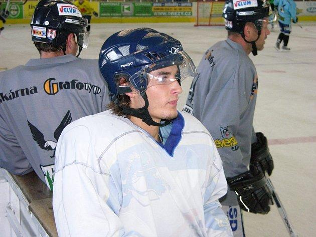 Jan Kočan během jednoho z tréninků Draků.