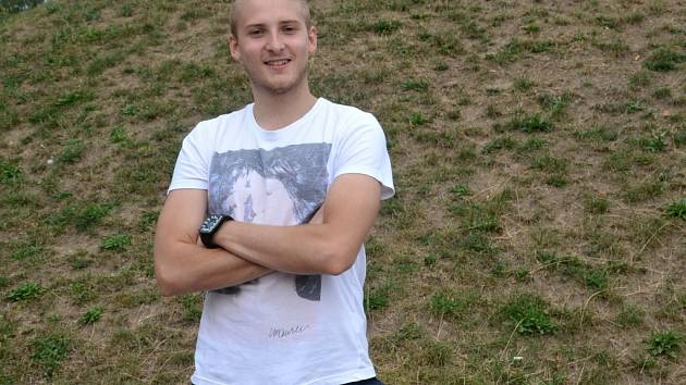 Mladý scenárista Václav Crhonek z Libiny.