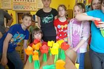 Origami z knihovny v Oskavě