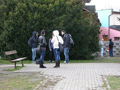 Parčík u autobusového nádraží v Jeseníku
