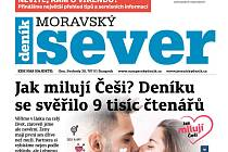 Týdeník Moravský sever s datem vydání 3. září.
