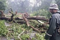 Následky bouřek na Šumpersku