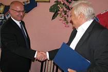 Slavnostní podpis spolupráce šumperského a třineckého hokeje