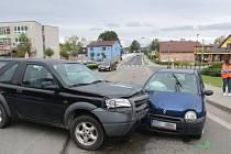 Nehoda v Bludově 16. 5. 2019.