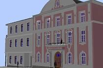 Takto by měla podle studie, kterou si nechalo město zpracovat, vypadat přístavba ke staré budově radnice v Mohelnici.