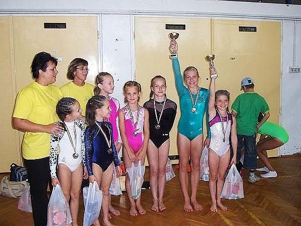 Výprava šumperských gymnastek v Miškolci