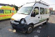 Nehoda tří aut v Libivé
