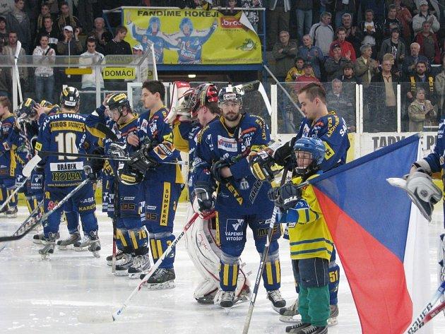 Šumperští hokejisté před utkáním