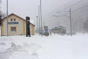 Sněžení 19. dubna v Loučné nad Desnou.