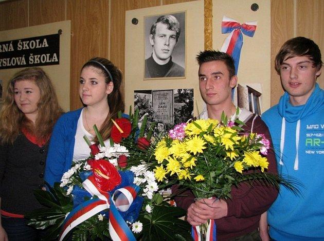 Studenti si připomněli památku Jana Zajíce.