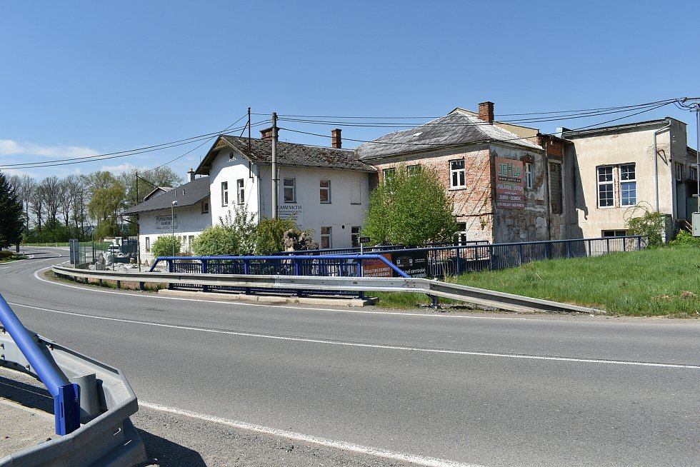 Areál Habermannova mlýna u Bludova.