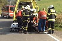 Zásah při záchraně zavaleného dělníka v Maršíkově.