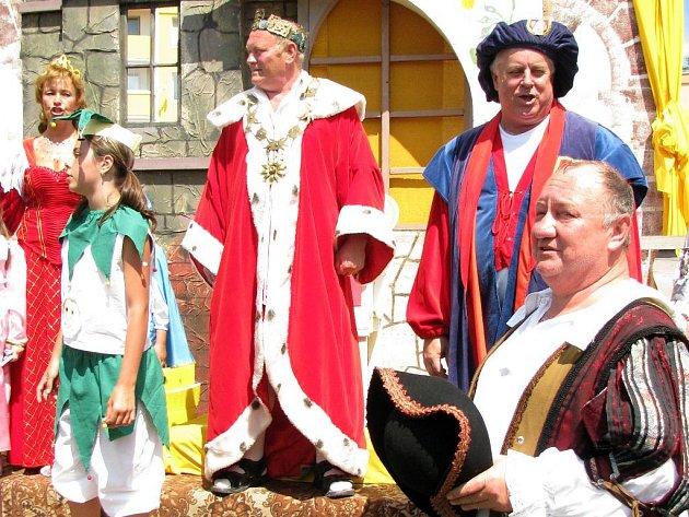 Král Tvarůžek I. na loštických slavnostech