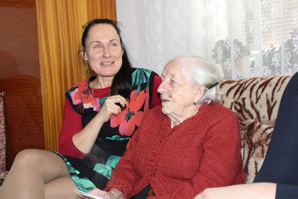 Aloisie Heděncová ze Šumperku oslavila sto let.
