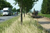 Stavba cyklostezky mezi Moravičany a Mohelnicí