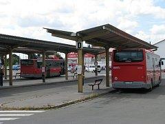 Autobusové nádraží v Šumperku.