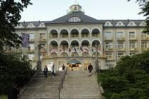 Slavnostní  rozsvěcení Sanatoria Priessnitz v jesenických lázních