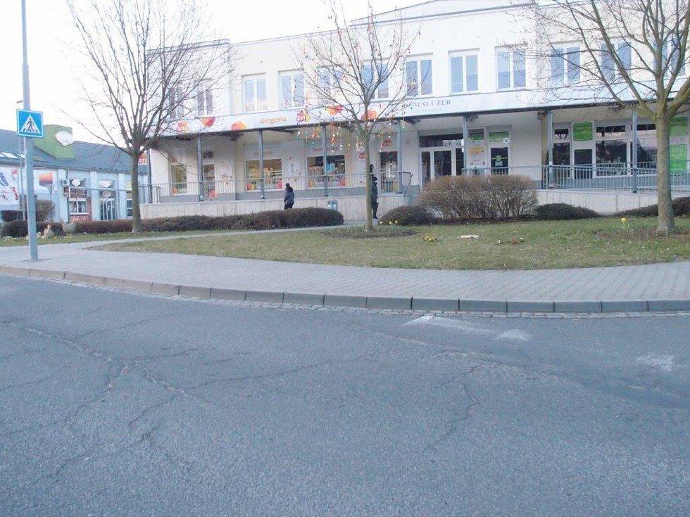 Náměstí Tyrše a Fügnera v Mohelnici bez ukradeného zajíce.