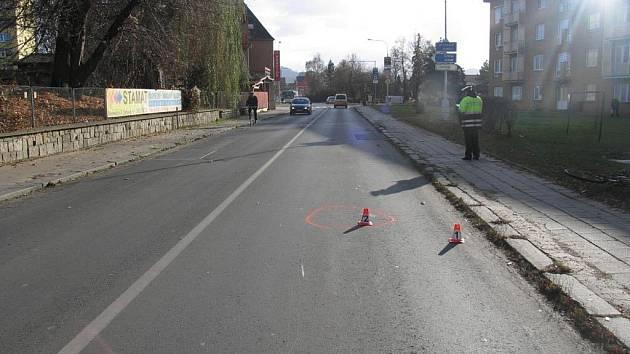 Ulice, ve které došlo k nehodě cyklistky