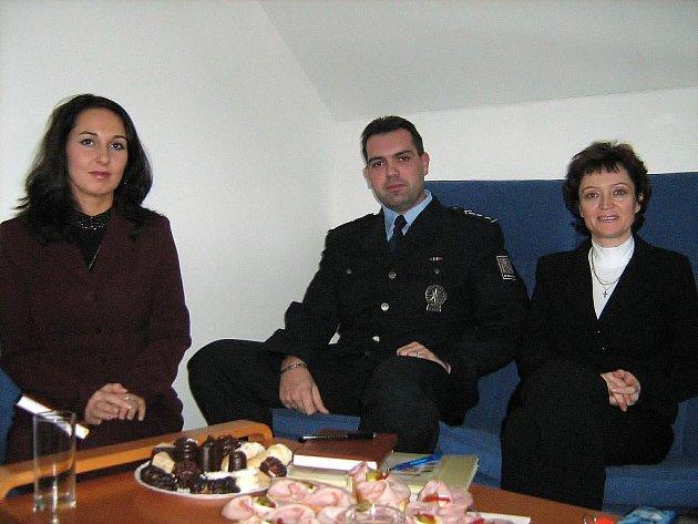 Ludmila Andělová, Ivan Petrišče a Natálie Pastuchová (zprava)