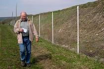 Starosta Líšnice Miroslav Stratil u místní skládky