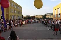 Zahájení školního roku na základní škole v ulici Sluneční v Šumperku.