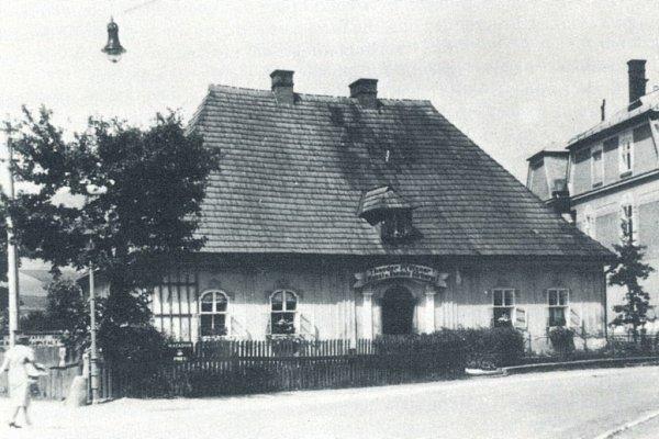 Budova Katovny vJeseníku v1. polovině 20.století